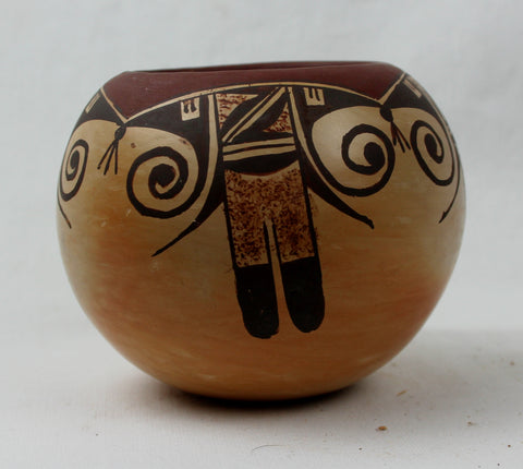Native American Vintage Hopi Pottery Bowl, by Ankle Sahmie Nampeyo, Ca 1070. #1318 c