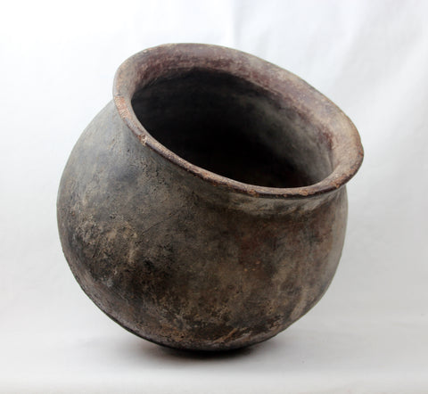 Native American, Historic Tohono O'odham Cooking Pot, Ca Early 1900's #1322