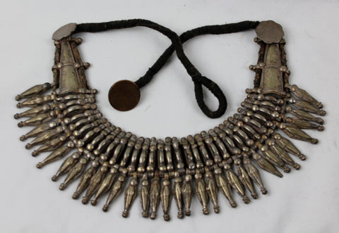 Primitive Rana Tharu, Tribal Spike Collar Kanthshri Necklace Nepal #1406