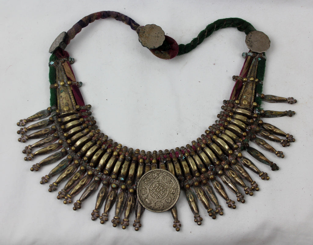Primitive Rana Tharu, Tribal Spike Collar Kanthshri Necklace Nepal #1407-Sold