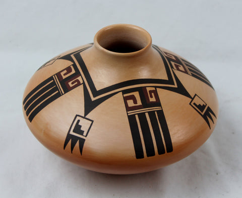 Native American, Vintage Hopi Poly Chrome Pottery Jar, by Fawn Garcia Navasie, Ca 1980's, #1410