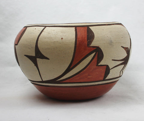 Native American, Vintage Zia Poly Chrome Pottery Bowl, Ca 1960's, #1419