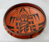 Native American Vintage Hopi Poly Chrome Pottery Bowl, by Garnet Pavatea, Ca 1950's, #1417 Sold