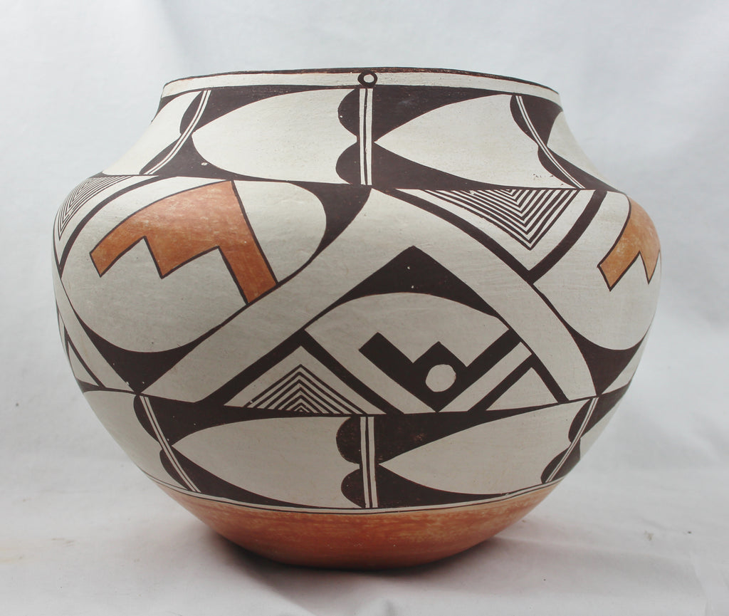 Native American, Vintage Acoma Poly Chrome Pottery Olla, Ca. 1975, By Cindy Dewahe, #1465