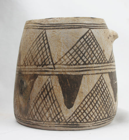 Native American, Exceptional Anasazi Pottery Mug With Lug Handle, Ca 1200 to 1300 CE. #1478