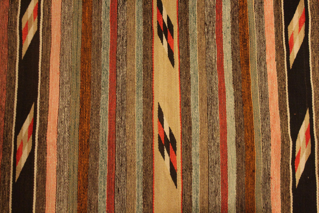 Native American, Vintage Navajo Double Weave Weaving/Rug, Ca 1950's, #1488