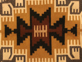 Native American, Vintage Navajo Two Grey Hills Weaving/Rug, by Marita Gould (Dine, 20th Century). #1487