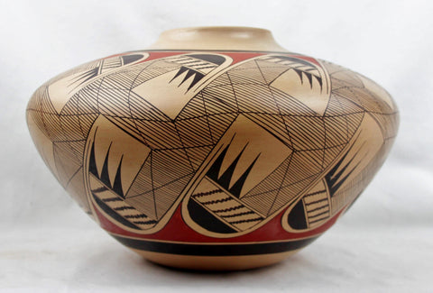 Native Amerian Vintage Hopi Poly Chrome Pottery Jar, by Clinton Polacca Nampeyo, Ca 1900's, #1497