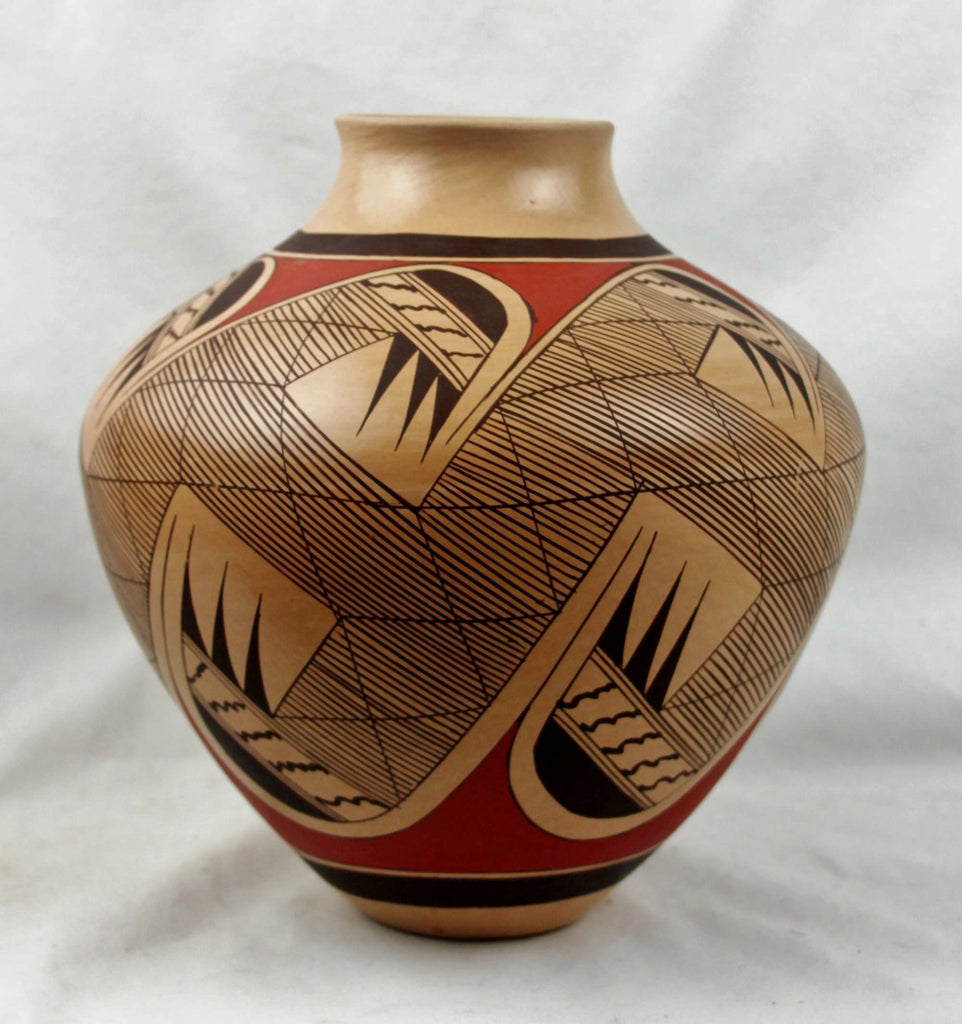 Native American, Vintage Hopi Poly Chrome Pottery Jar, by Clinton Polacca Nampeyo, Ca 1990's, #1496