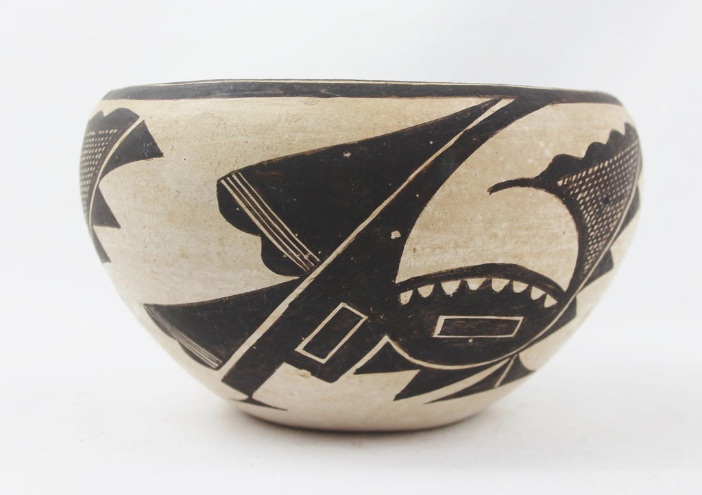 Native American, Vintage Acoma Pottery Bowl, by Marie Z Chino, CA 1950's, #1516 SOLD