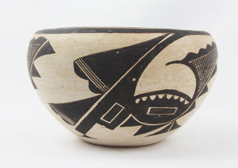 Native American, Vintage Acoma Pottery Bowl, by Marie Z Chino, CA 1950's, #1516