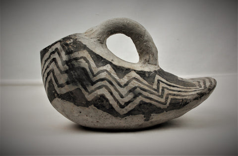 Rare Ancestral Puebloan Mesa Black on White Duck Pitcher, Ca. 900-1000 A.D., #1670