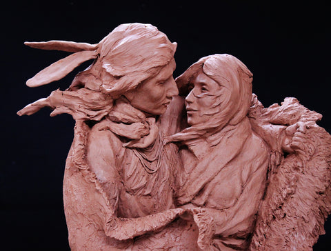 "Copy of Western Bronze Sculpture, ""The Edge of Winter"" by Jeff Wolf, Pre Cast, Limited Edition of 20, #1035"