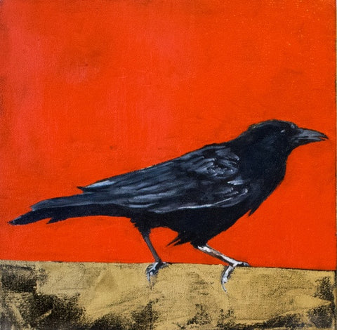 """Beyond the Western Plains"" From the Crow Series, By Del Curfman, #1163"