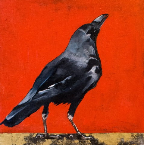 """Peering Towards the Sky"" From the Crow Series, By Del Curfman, #1164"
