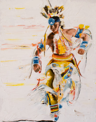 "Native American, Oil on Canvas, Titled ""Brilliant"" From the Vanishing Series, By Del Curfman, #1160"