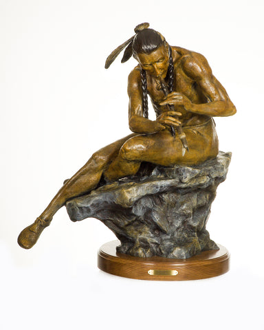 "Western Bronze Sculpture, by Renowned Western Artist, Jeff Wolf, Entitled ""The Serenade"", Limited Edition, 3 of 10  Available, #1010"