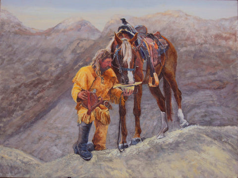 "Traditional Western Art, ""Partners"", by Linda Gulinson, #1352"