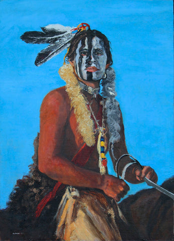"Traditional Western Art, ""The Brave"", by Linda Gulinson, #1350"