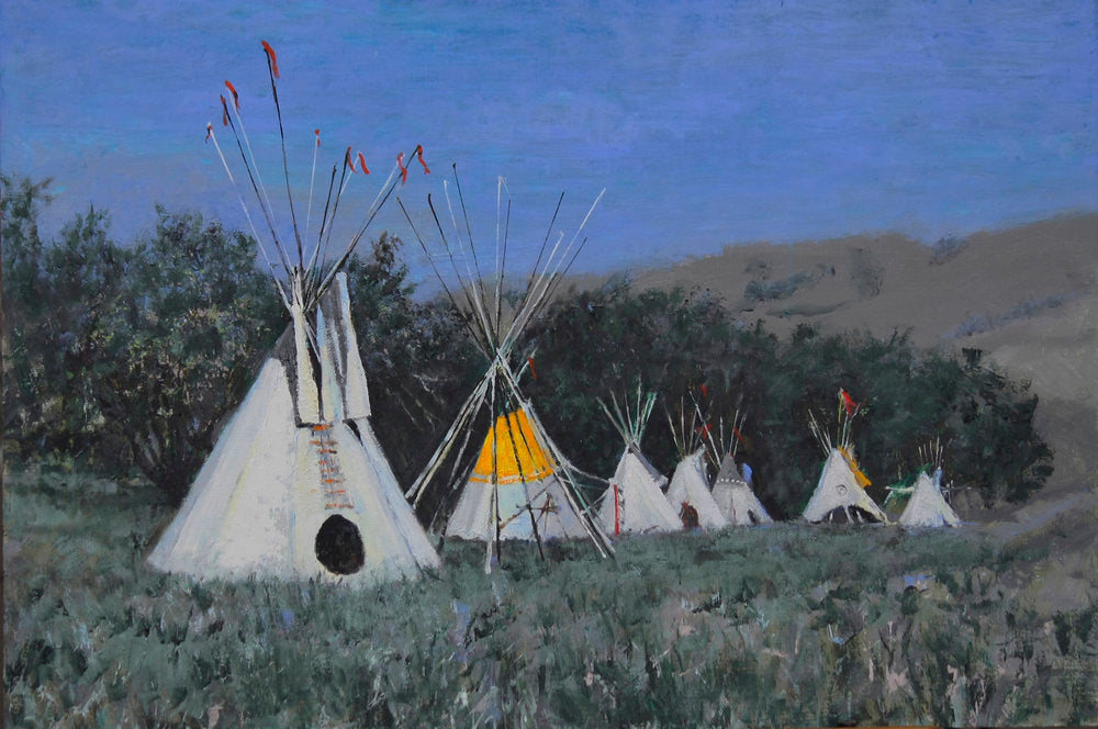 "Traditional Western Art, ""The Tipis"", by Linda Gulinson, #1359"