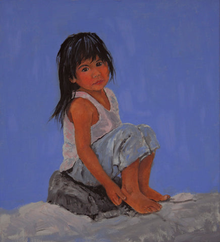 "Traditional Western Art, ""The Youngest"", by Linda Gulinson. #1361"