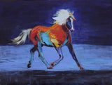 "Contempory Western Art, ""Wild Fire"" by Linda Gulinson, #1369"