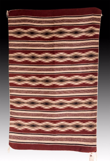 Native American Navajo Wide Ruins Weaving by Marleen Begay, Ca 1970's, #1041