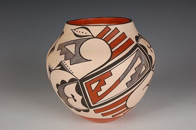 Acoma Pottery Olla Signed by L. A. Chino #10