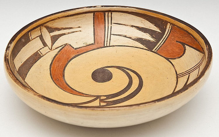Primitive Dough Bowl : Vintage Hopi Pottery Dough Bowl #3