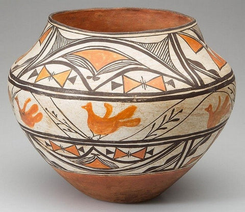 Native American Acoma or Laguna Pottery Olla #32