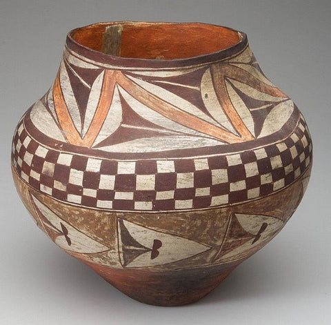 Native American Acoma or Laguna pottery Olla #29
