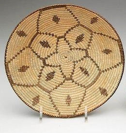 Coil Baskets : Native American Coil Basket, Panamint Tray #28b