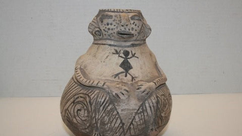 Effigy : Reproduction Casas Grande Hohokam Male effigy Jar #188