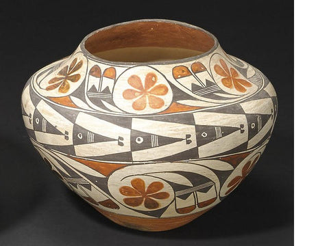 Native American Historic Acoma Poly chrome Jar #192