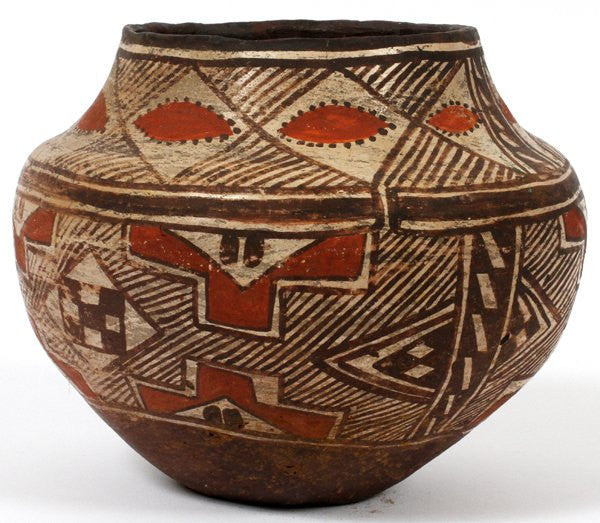 Southwestern Art : Historic Southwest American indian Polychrome Olla #204
