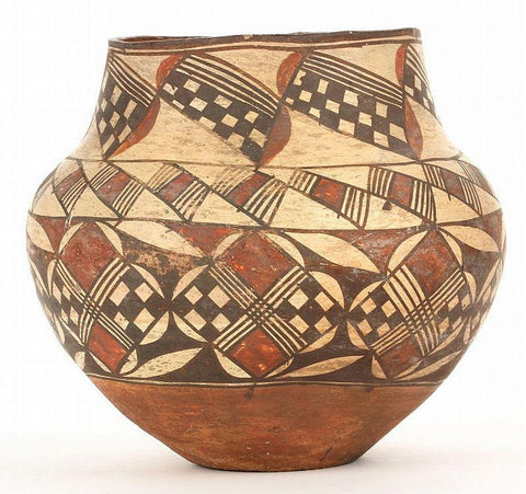 Native American Acoma Polychrome Olla #210