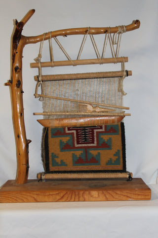 Native American : Native American Navajo Rug and Loom Example #54 Sold