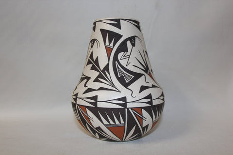 American Indian Pottery : Native American Acoma Pottery Jar by B.L. Cerno #73 Sold