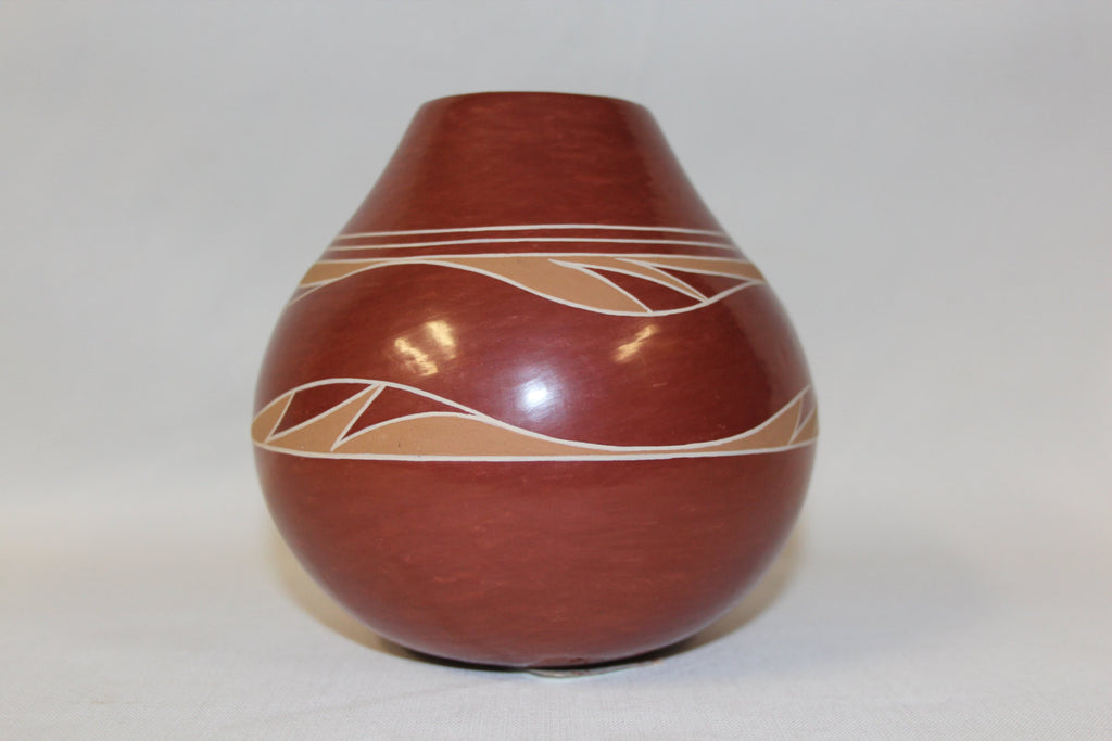 Native Pottery Jar : Native Amerian Santa Clara Pottery Jar, by Earlene Young Bird Tafoya #68 b.