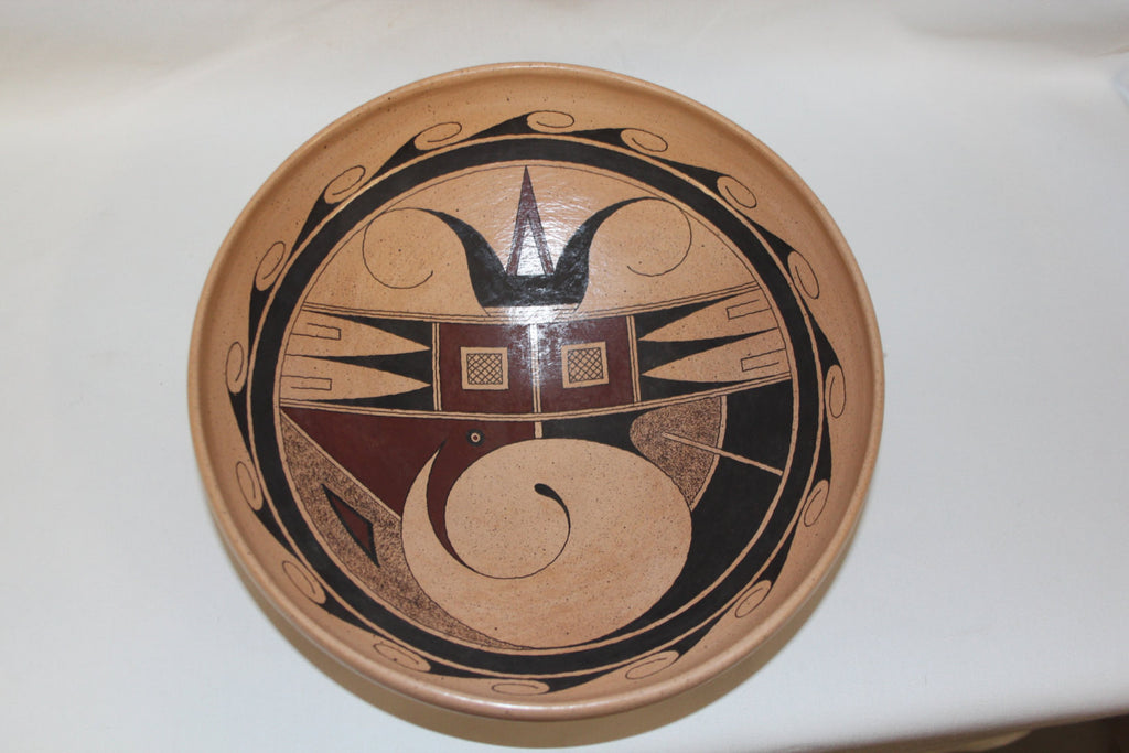 Native American Hopi : Beautiful Native American Hopi Pottery Bowl by Stetson Setalla #78