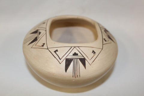 Hopi Pottery :  Native American Hopi Pottery Bowl, signed by Blue Smokes #121 Sold