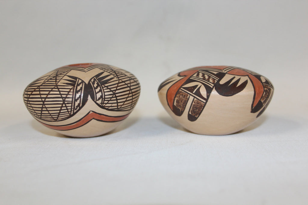 Native American Pottery :  2 Beautiful Native American Hopi Seed Pots, signed by Adelle Nampeyo #146