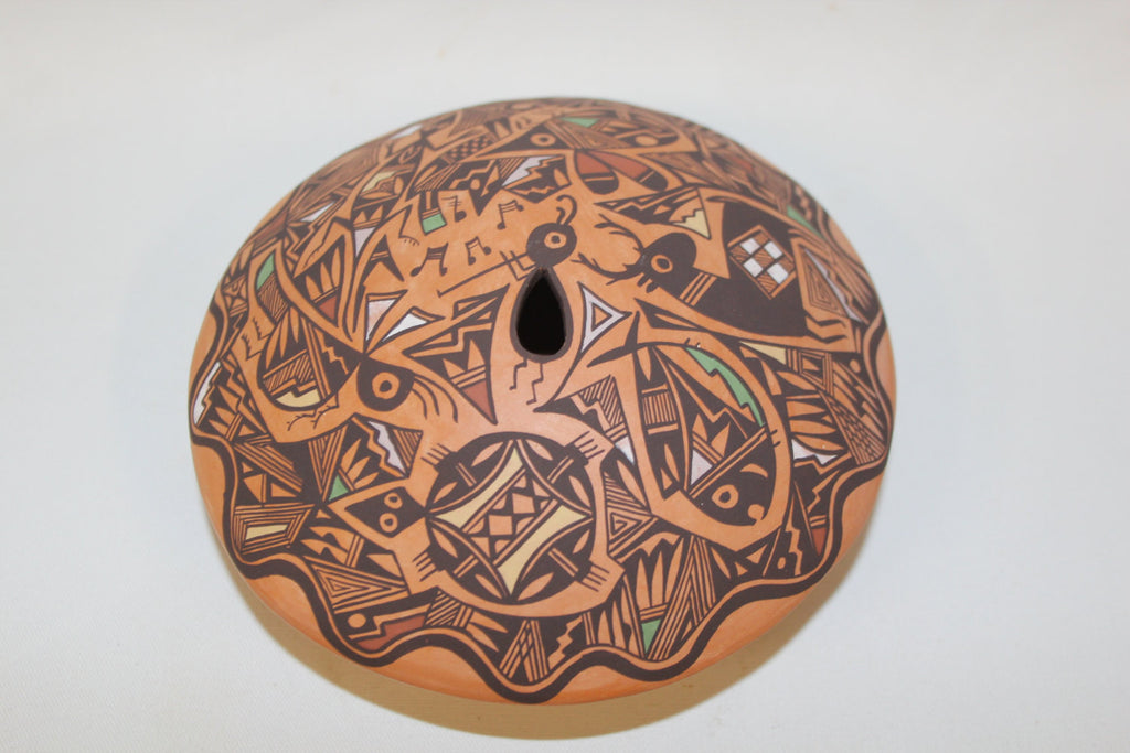 Native American :  Acoma Pottery Seed Jar, Signed by E. Concho #137