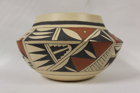 Acoma Pottery : Native American Acoma Pottery Bowl, by Navin Yessiltn #142