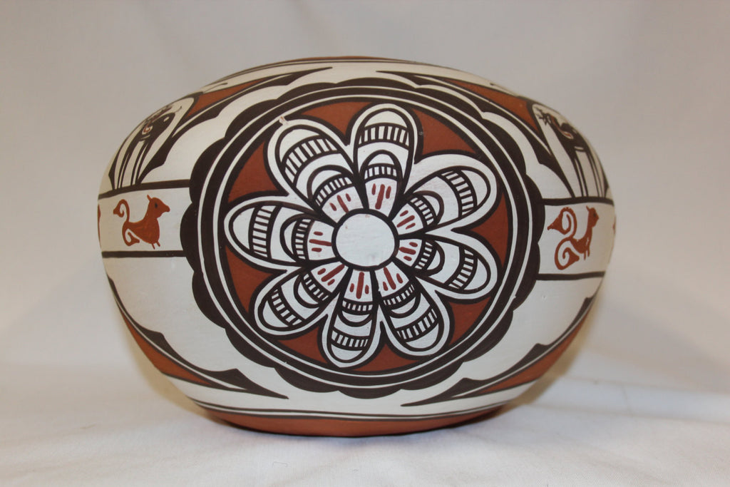 Zuni : Native American Zuni Pottery Bowl, by Claudine Haloo #143