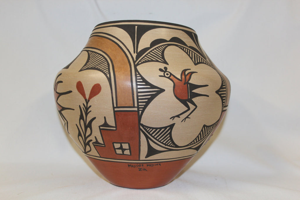 Zia : Native American Zia Pottery Jar, by Maxine Medina #147