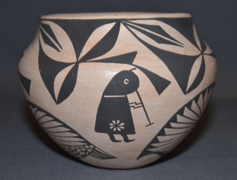 Pottery Jar : Excellent Native American Acoma Pottery Jar by Emma Chino #216 SOLD OUT