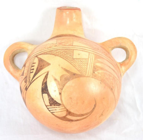 Canteen : Very Nice Native American Hopi Canteen or Saddle Jug #219 SOLD OUT