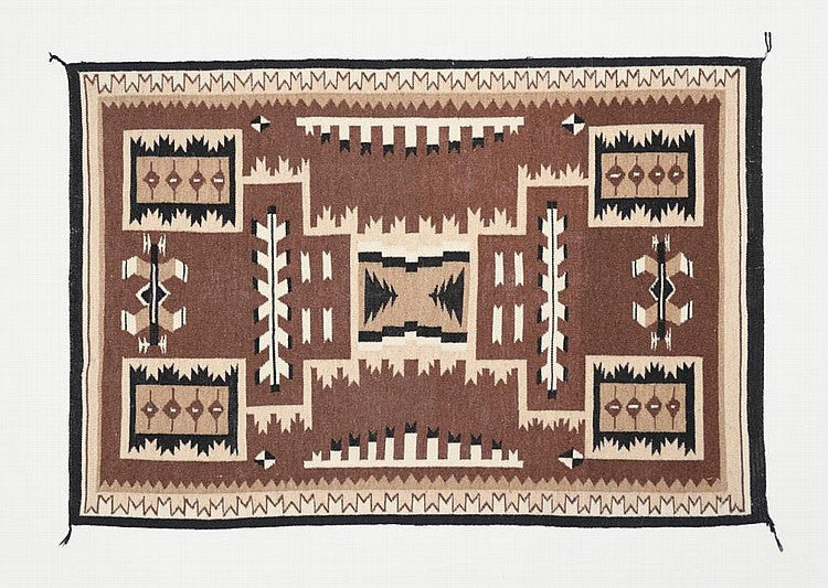 Navajo Rug : Beautiful Navajo Storm Pattern Rug #228