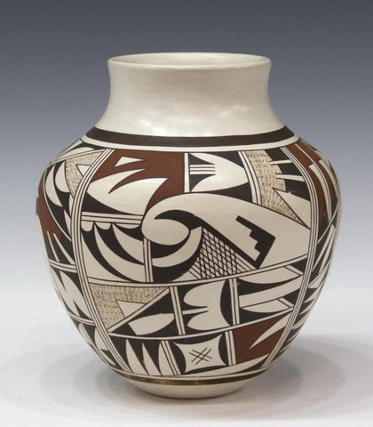 Native American Hopi Pottery Bowl, by J. Navasie #232-Sold